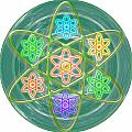 Green Revolution Chakra Mandala Art Yoga Meditation Tools Navinjoshi  Rights Managed Images Graphic  by Navin Joshi