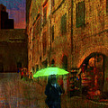 Green Umbrella by Patrick J Osborne