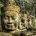 Guardians Of Angkor Thom by Douglas J Fisher