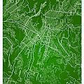 Guatemala Street Map - Guatemala City Guatemala Road Map Art On  by Jurq Studio