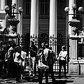 guided tour group outside the former national congress building Santiago Chile by Joe Fox