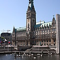Hamburg - City Hall With Fleet - Germany by Christiane Schulze Art And Photography