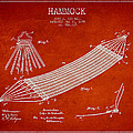 Hammock Patent Drawing From 1895 by Aged Pixel