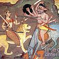 Hindu Goddess Durga Fights Mahishasur by Photo Researchers