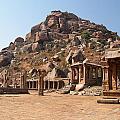Hindu Ruins At Hampi by Carol Ailles