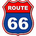Historical Route 66 Sign Illustration by Indian Summer