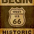 Historical Route 66 Sign Poster by Indian Summer