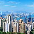 Hong Kong Mountain Top View by Songquan Deng