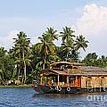 Houseboats On The Kerala Backwaters by Robert Preston