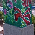 Hummingbird Traffic Signal Box by Genevieve Esson