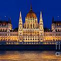 Hungarian Parliament In Budapest by Michal Bednarek
