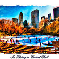Ice Skating In Central Park by Betsy Foster Breen