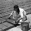 Indians Making Adobe Bricks by Underwood Archives