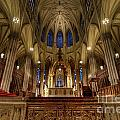 Inside St Patricks Cathedral New York City by Amy Cicconi