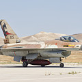 Israeli Air Force F-16 At Nevatim Air by Giovanni Colla