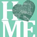 Jacksonville Street Map Home Heart - Jacksonville Florida Road M by Jurq Studio