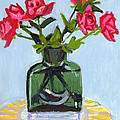 Jeff's Vase And Rodger's Roses by Candace Lovely