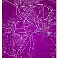 Kabul Street Map - Kabul Afghanistan Road Map Art On Colored Bac by Jurq Studio