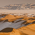 Khongor Sand Dunes In Winter Gobi Desert by Colin Monteath