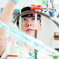 Lab Technician Doing Experiment by Wladimir Bulgar/science Photo Library