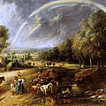 Landscape With A Rainbow by Peter Paul Rubens