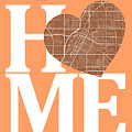 Las Vegas Street Map Home Heart - Las Vegas Nevada Road Map In A by Jurq Studio
