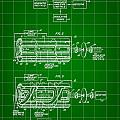 Laser Patent 1958 - Green by Stephen Younts