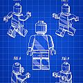 Lego Figure Patent 1979 - Blue by Stephen Younts