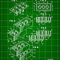 Lego Patent 1958 - Green by Stephen Younts