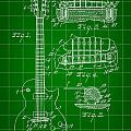 Les Paul Guitar Patent 1953 - Green by Stephen Younts