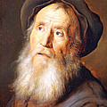 Lievens' Bearded Man With A Beret by Cora Wandel