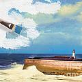 Lighthouse At Whitehaven by Amanda Elwell