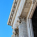 Lincoln County Courthouse Columns Looking Up 02 by Sylvia Thornton