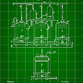 Louis Pasteur Beer Brewing Patent 1873 - Green by Stephen Younts