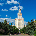Main Building Of Moscow State University On Sparrow Hills by Alexander Senin