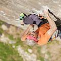 Man Climbing Re Azul, An Historic 7b by Paolo Sartori