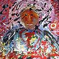 Man In A Cosmic Landscape Of Emotion by Darryl  Kravitz