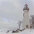 Marblehead Lighthouse Lake Erie by Jack R Perry