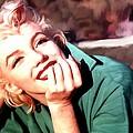 Marilyn Monroe Large Size Portrait by Gabriel T Toro