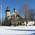 Mcgulpin Point Lighthouse In Winter by Keith Stokes