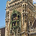 Mechanical Clock In Munich Germany by Howard Stapleton