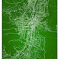 Medellin Street Map - Medellin Colombia Road Map Art On Colored  by Jurq Studio