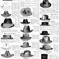 Men's Hats, 1895 by Granger