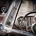 Mercedes-benz 250 Se Steering Wheel Emblem by Jill Reger