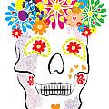 Mexican Sugar Skull For Dia De Los Muertos by MX Designs