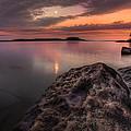 2 Mile Point Sunset And Moonrise by Jakub Sisak