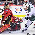 Minnesota Wild V Calgary Flames by Derek Leung