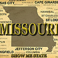 Missouri State Pride Map Silhouette  by Keith Webber Jr