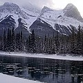 Mountain Sunset Christmas Canmore, Alberta by Ian Mcadie