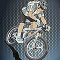 Mountainbike Sports Action Grunge Color by Frank Ramspott
